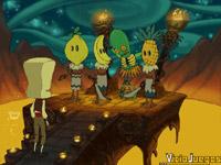 Una de las escenas gore de la aventura será protagonizada por Caralimón y sus compañeros caníbales
