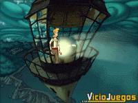 Una vez reparado el faro de isla Blood volverá a guiar al Galés volador de vuelta desde la isla Skull