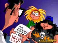 Bernard informa a sus flipados amigos, Hoagie y Laverne, que Púrpura y Verde están en apuros.