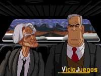 El viejo Corley espeta a Ripburger en su limusina momentos antes de que éste consume su traición