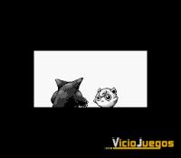 El juego arranca con una secuencia interactiva que pone en combate a Jigglypuff y a Gengar
