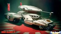 La tecnología y naves de los japoneses será espectacular. Aqui el clásico Transformer-tanque.
