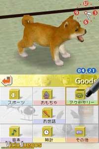 Desde la táctil podemos elegir todas las opciones para después interactuar con los canes
