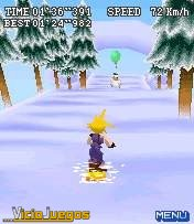 Lo que nos preguntamos es cómo el protagonista no se puede helar yendo en manga corta sobre la nieve