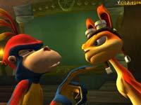 Daxter discutiendo con un mono (...)