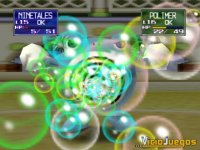 Los efectos de los ataques están representados como en la serie. Éste es el Rayo Búrbuja.