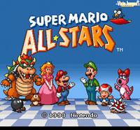En la pantalla de título, podemos ver a Mario, Luigi, y varios personajes de la saga