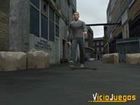 Este matón es Eddie O'Connor, uno de los tres protagonistas del juego.