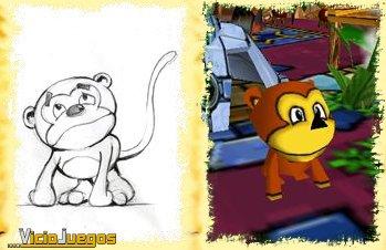 Tigre y Mono buscan Bola para derrotar a Hechicera