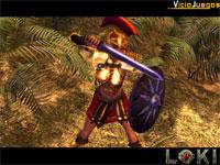 Aunque no esté emparentada con Kratos, la bella guerrera griega tiene su misma ferocidad.