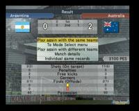 El partido ha finalizado y Australia sorprendentemente vence a Argentina.