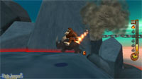 Avance de Donkey Kong Jet Race: Donkey cambia los bongós por el Wiimote