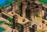 Una ciudad sarracena bien fortificada y protegida por mamelucos, sus unidades especiales