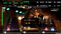 Un ejemplo de cómo se verá Rock Band en nuestras pantallas, hay sitio para todo