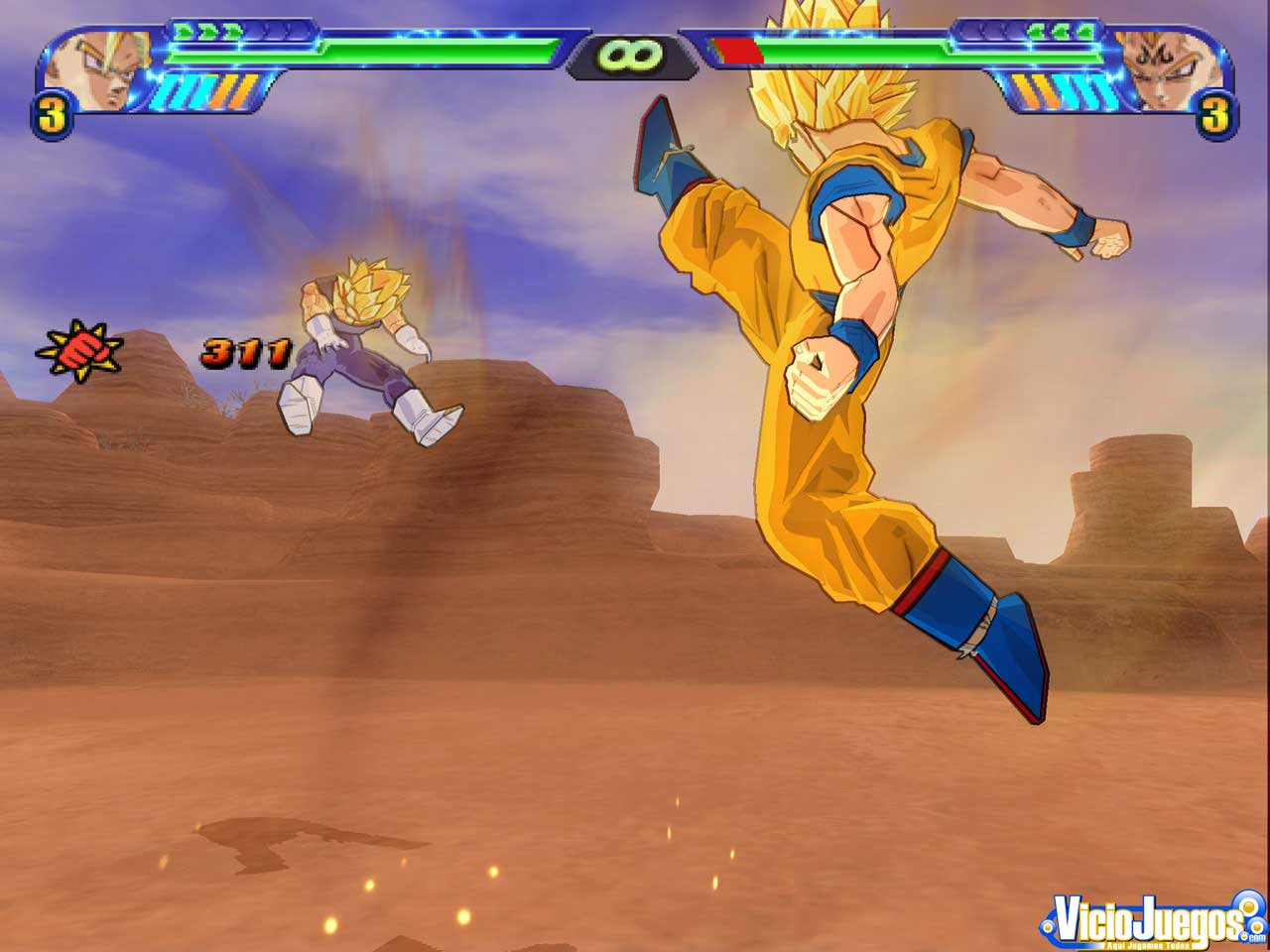 El combate m�s espectacular y estrat�gico de Goku