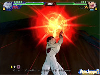 Cada personajes cuenta con sus ataques más característicos. esta es la bola mortal de Freezer