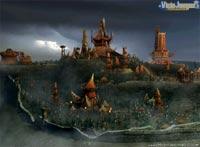 Esta es la imponente ciudad de los orcos, morada de goblins, ogros y criaturas similares