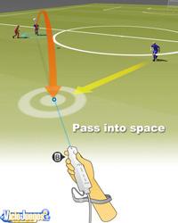 Un ejemplo de cómo realizar un pase al hueco