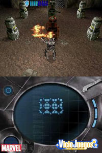 En el primer nivel controlamos a un Iron Man poco desarrollado