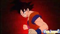 Goku está a punto de usar la técnica Kaioken para zurrar de lo lindo a Vegeta