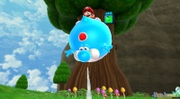 Yoshi se infla como ocurría con Mario en Super Mario World
