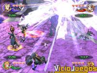 FF:CC promete efectos de luz muy vistosos al lanzar hechizos.