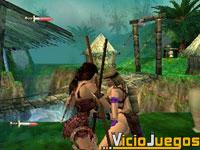 Muchos efectos acompañarán el combate entre Xena y esta amazona