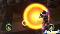 Turles lanza su técnica Conductor Mortal contra Goku