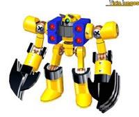 Gigantescos robots dispuestos para la batalla