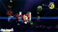 Nuestro héroe salta de un planetoide a otro para avanzar por los niveles