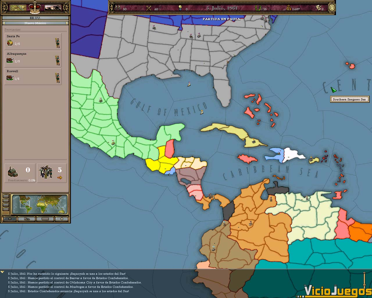 Todas Las Imágenes O Capturas De Victoria Un Imperio Bajo El Sol - America mapa juego