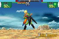Dos rivales legendarios, Son Goku y Perfect Cell, aquí vemos una presa del segundo