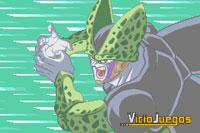 Cell lanzando uno de sus ataques más poderosos, heredado del maestro Kame Senin