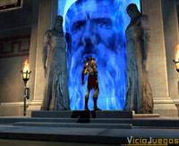 Kratos en plena conferencia con el Olimpo, con lo caro que debe salir...