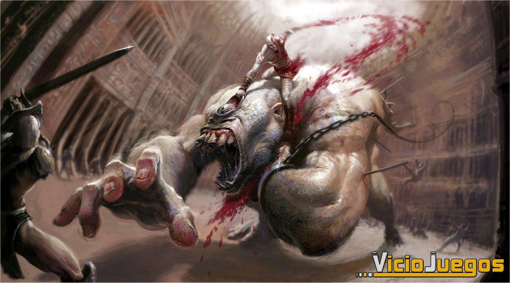 Kratos, el brutal guerrero del Olimpo.