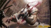 Kratos haciendo de las suyas con un indefenso cíclope.