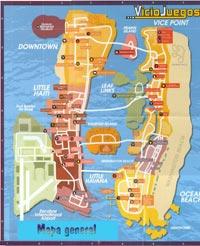 Mapa general de Vice City