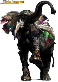 Elefante-zombie, una de las nuevas incorporaciones a la serie.