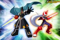 Colonel (izquierda) y Protoman (derecha) son los representantes de cada versión del juego