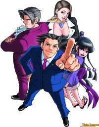 Los protagonistas del juego, liderados por el abogado Phoenix Wright.