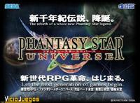 """El logo y eslogan de Phantasy Star Universe: """"Let the next generation of games begin"""""""
