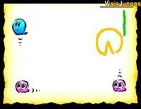 La linea verde sirve de pared, por lo que delimita el camino de Pacman