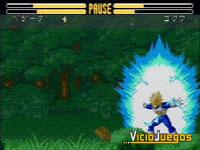 Cada personaje cuenta con sus ataques más característicos. Este es el Final Flash (destello final)