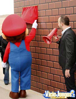 Momento de la inauguración de la Avenida de Super Mario Bros