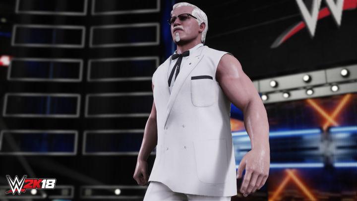 El coronel Sanders montará el pollo en WWE 2K18