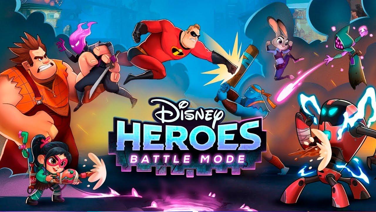 Los héroes de Disney y Pixar zurran a los malos en Heroes:Battle Mode