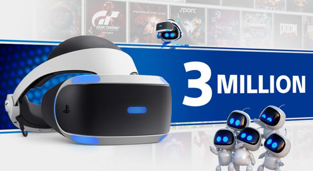 PlayStation VR ha vendido más de tres millones