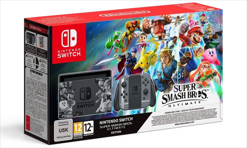 Nintendo anuncia el pack Switch con Super Smash Bros Ultimate