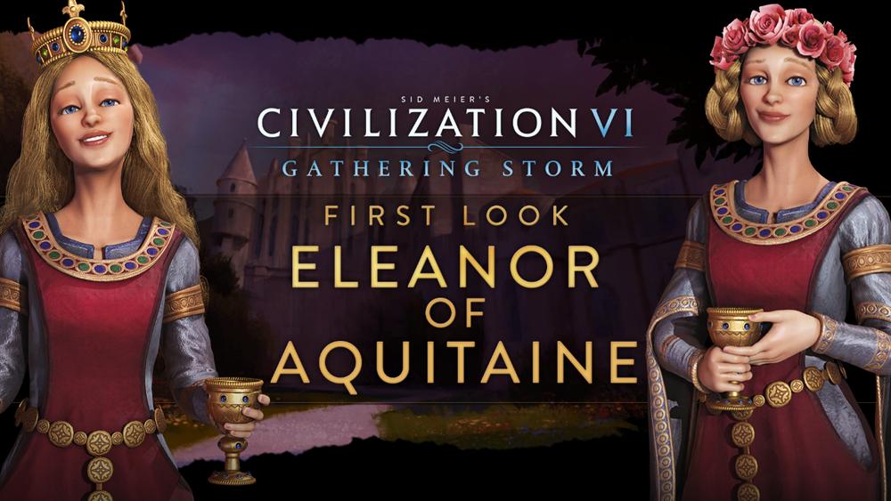 Leonor de Aquitania será soberana de Francia e Inglaterra en Civilization VI: Gathering Storm