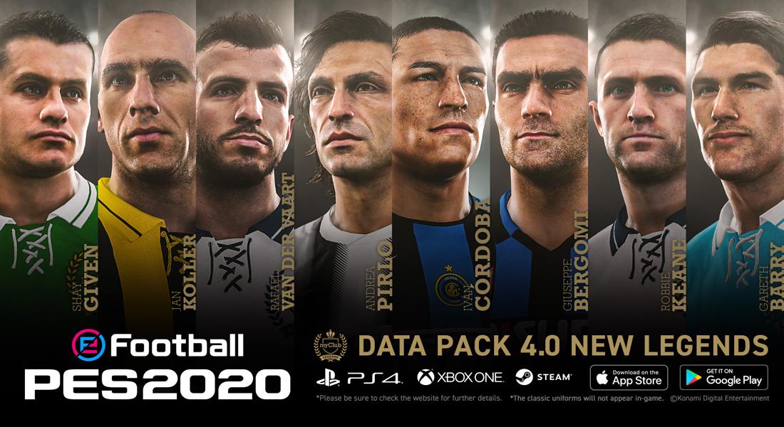 eFootball PES 2020 recibe la actualización Data Pack 4.0